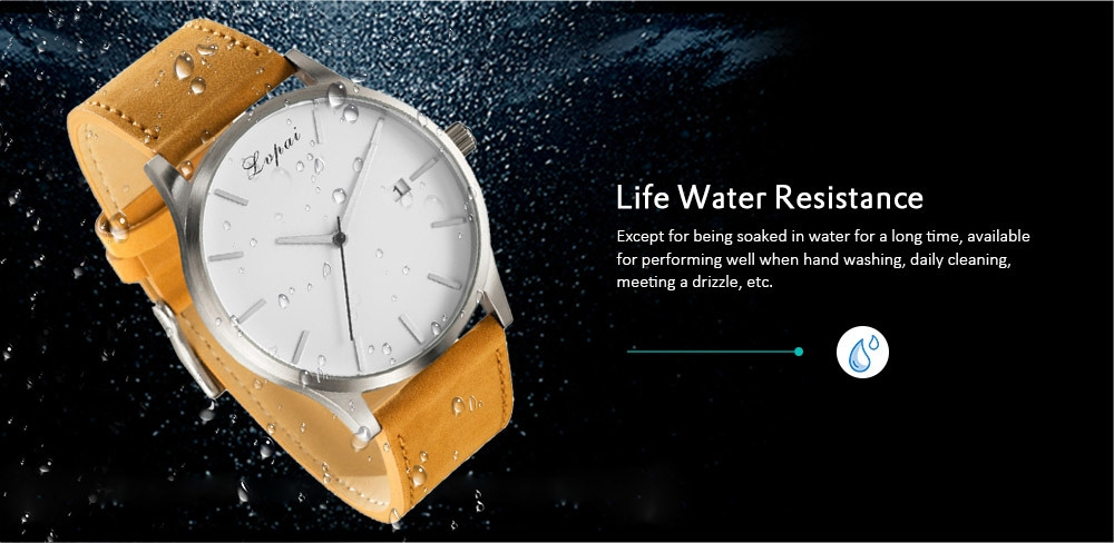 Lvpai P066 Men's Fashion Casual Leather Wrist Watch