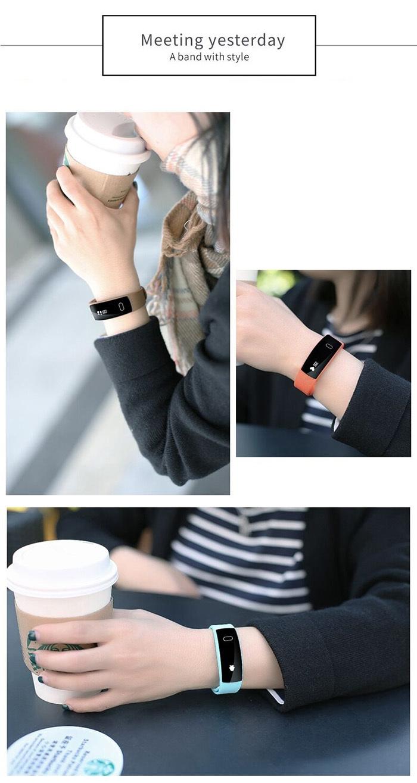QS80 Heart Rate Smart Wristband Sleep Monitor Call Reminder