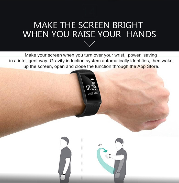 N108 Smartband Fitness Tracker Android iOS Compatible IP67 Waterproof Bluetooth 4.0 Heart Rate Monitor Remote Camera Sedentary Reminder