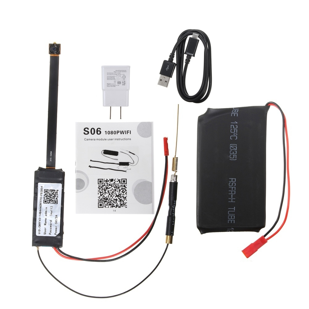 Generic Full HD 1080P Wireless WiFi Hidden Spy Camera DIY Module DV