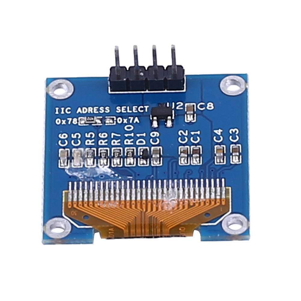 Buy Generic I2c Iic 128x64 White Oled Lcd Led Display Module Circuit Board Color Blue Material Electronic Components Uses Communication Scope Universal Product Size 28 1cm