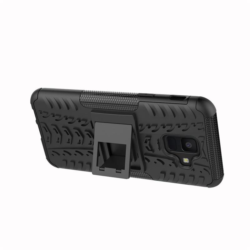 for Galaxy A6 2018 A600 Armor Heavy Duty Hybrid Stand Case for Samsung Galaxy A6 2018 Daul Color Cover Defender Designed for an active lifestyle,you can ...