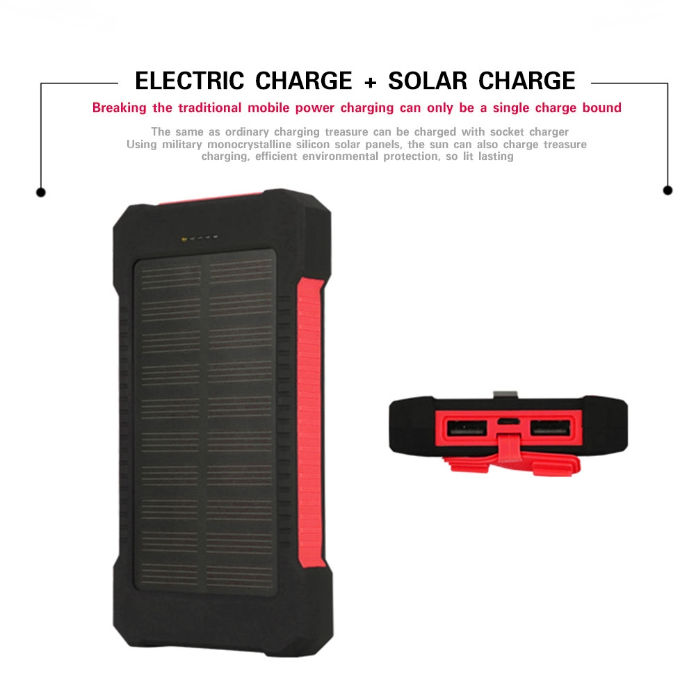 Buy Generic Led Light Portable Dual Usb Solar Panel Power Bank Case Circuit Images Material Plastic Silicone Polycrystalline Silicon Panels Boards Output Voltage Dc 5v 1a Board