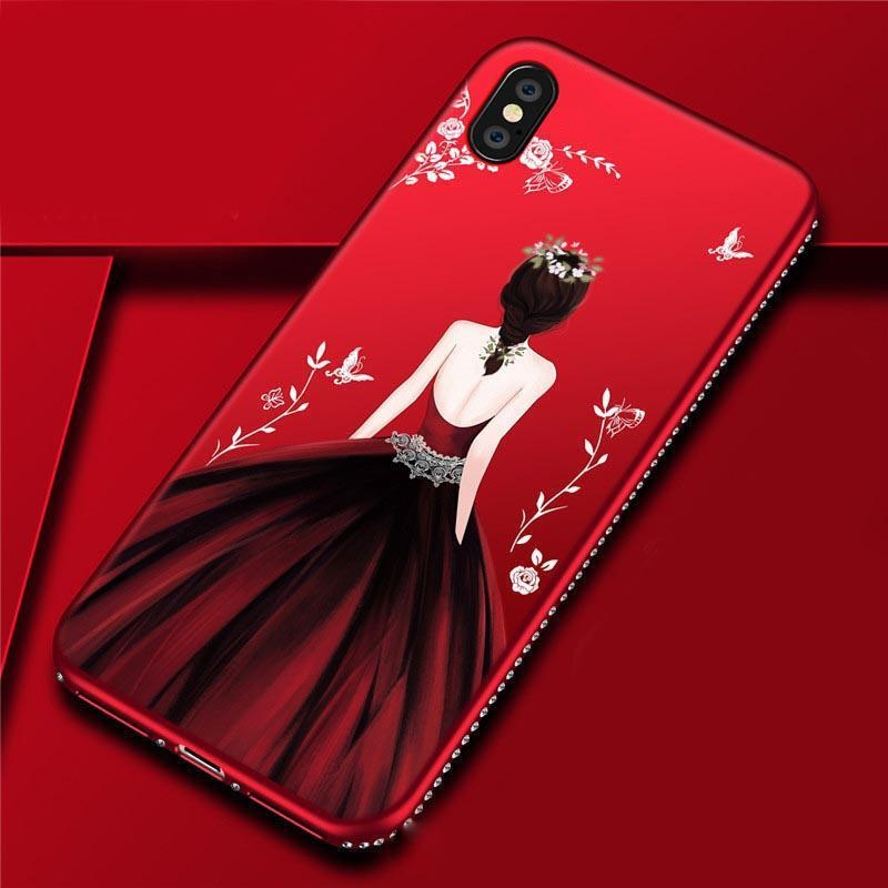 Generic For Vivo Y66 Y65 Case Goddess Beauty Girl Silhouette Diamond Coloured Drawing Back Cover Secret Garden Glitter Fashion TPU Silicone Phone Case for ...