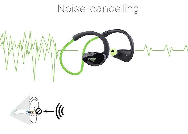 Dacom Athlete Bluetooth Headset Wireless Sport Headsfree Headphones Stereo Earphones Fone De Ouvido With Microphone