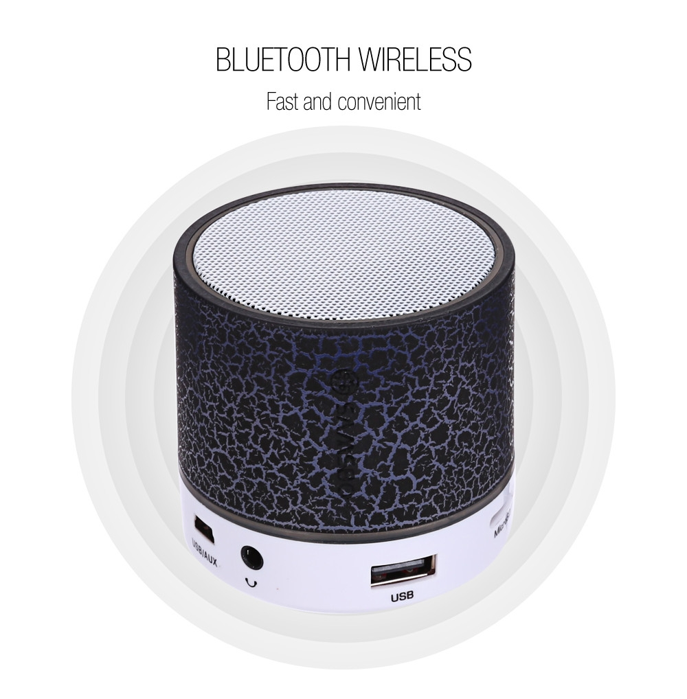 SAMSBO S8 Ultra Portable Wireless Bluetooth Round Mini Speaker