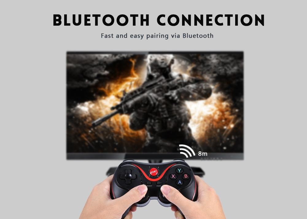 Generic Wireless Bluetooth Gamepad Game Controller - Black +