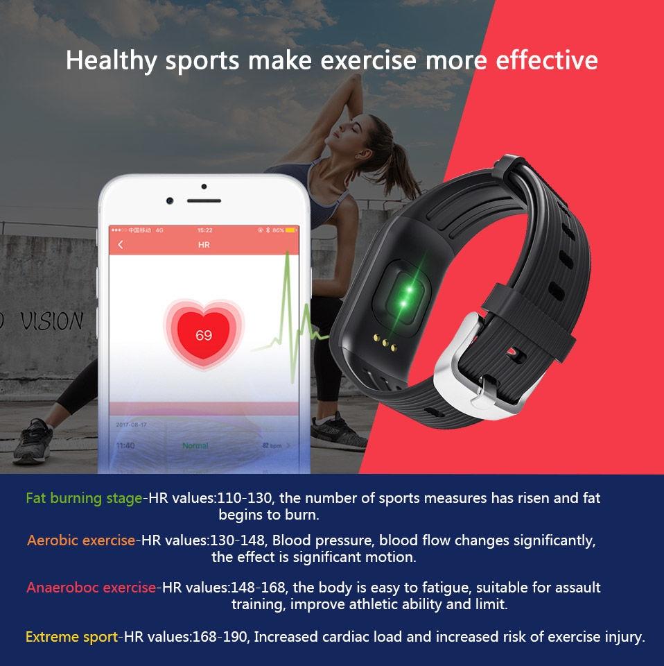 Generic Fantastic K1 Smart Bracelet Fitness Tracker Smart