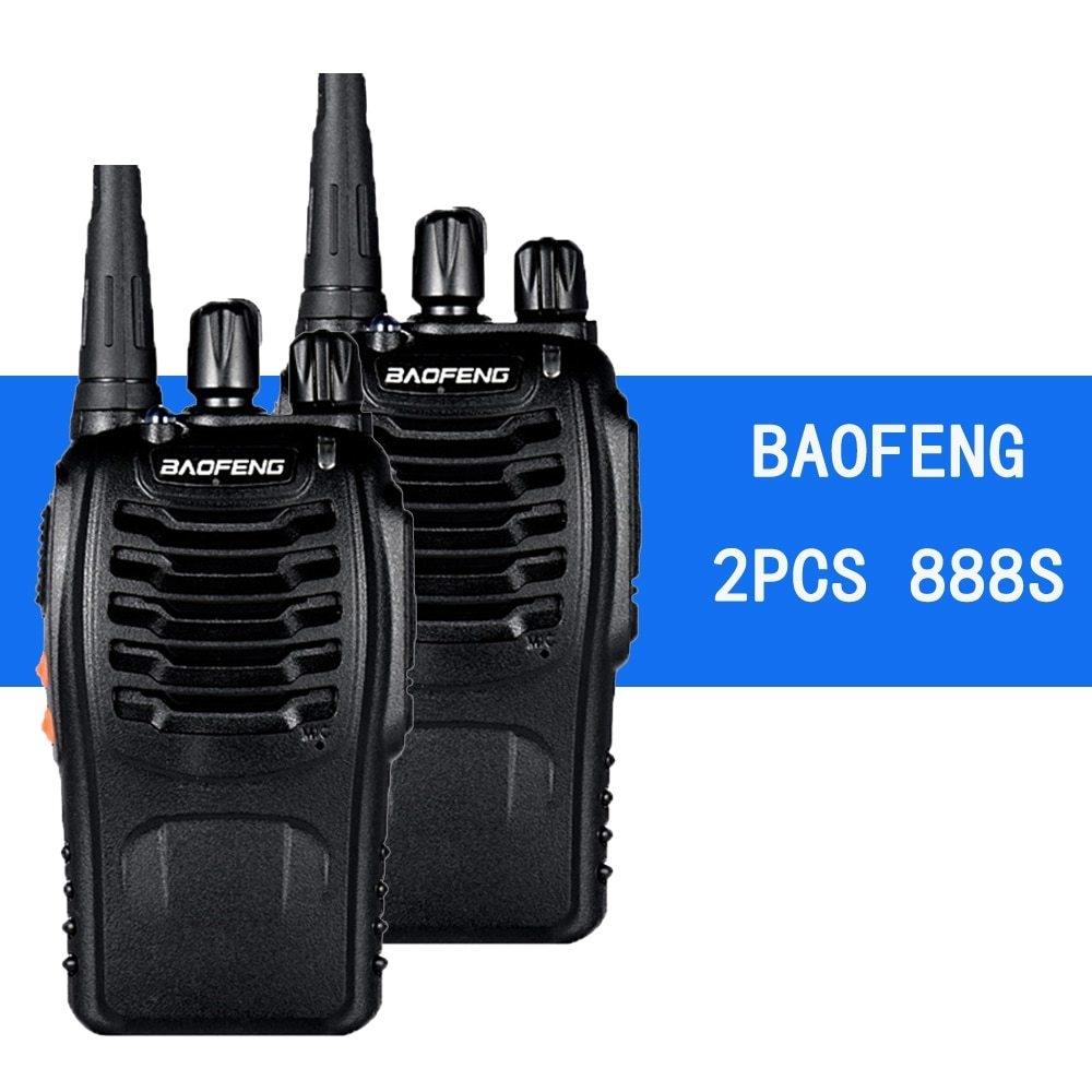 Generic 2PCS888S Walkie Talkie 5W Handheld Two Way Radio bf 888s UHF
