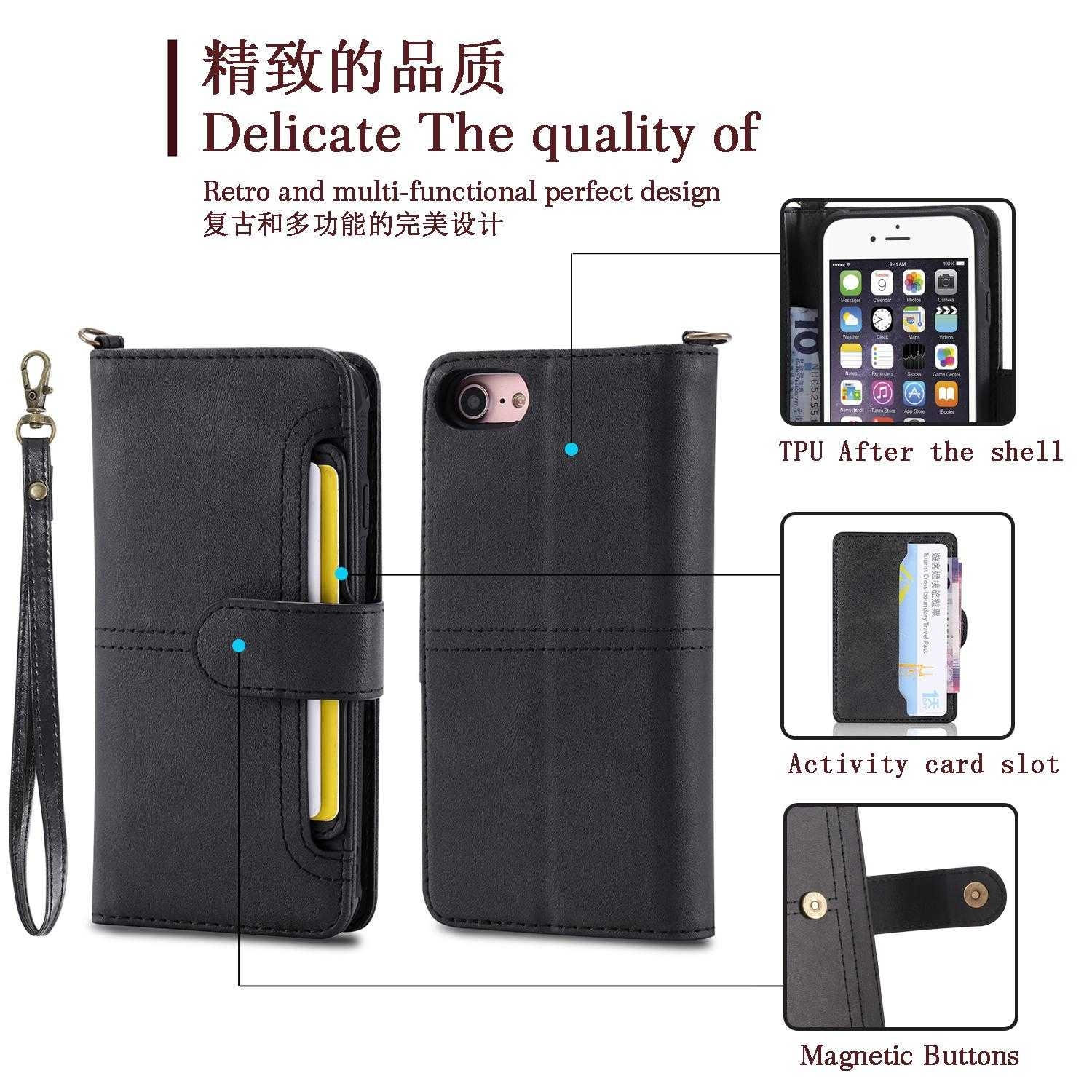 sports shoes e4a28 ad34b Generic Switch Wallet Magnetic Flip Phone Cases Card Holders for ...