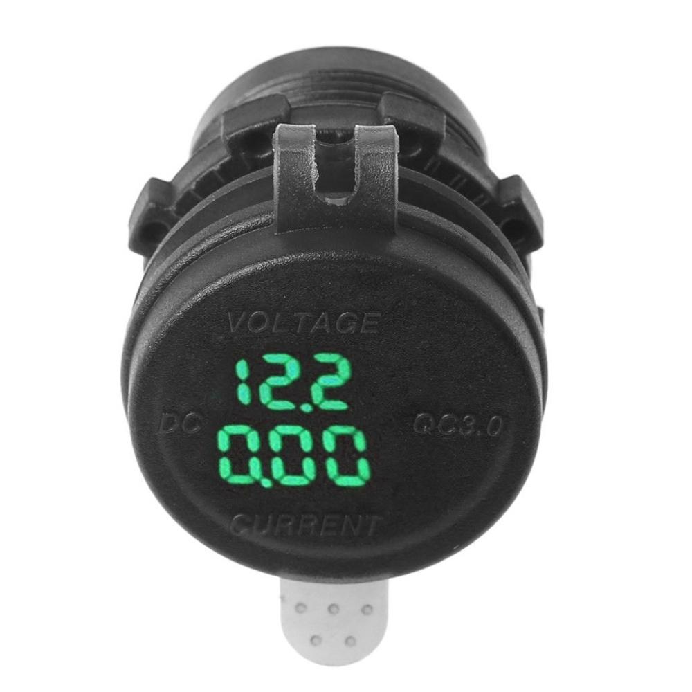 Buy Generic Qc 30 Led Usb Charger Socket Voltmeter Current Display Image