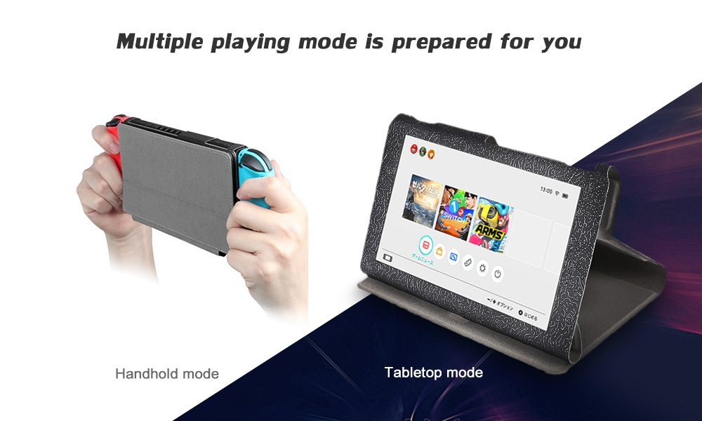 Leather Protective Case Holder for Nintendo Switch