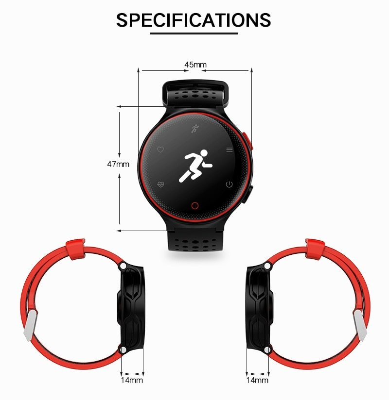 X2 Smart Watch IP68 Waterproof 4.0 Bluetooth 0.96 Inch Blood Pressure Tracker Heart Rate Sleep Monitor For Android IOS (18)