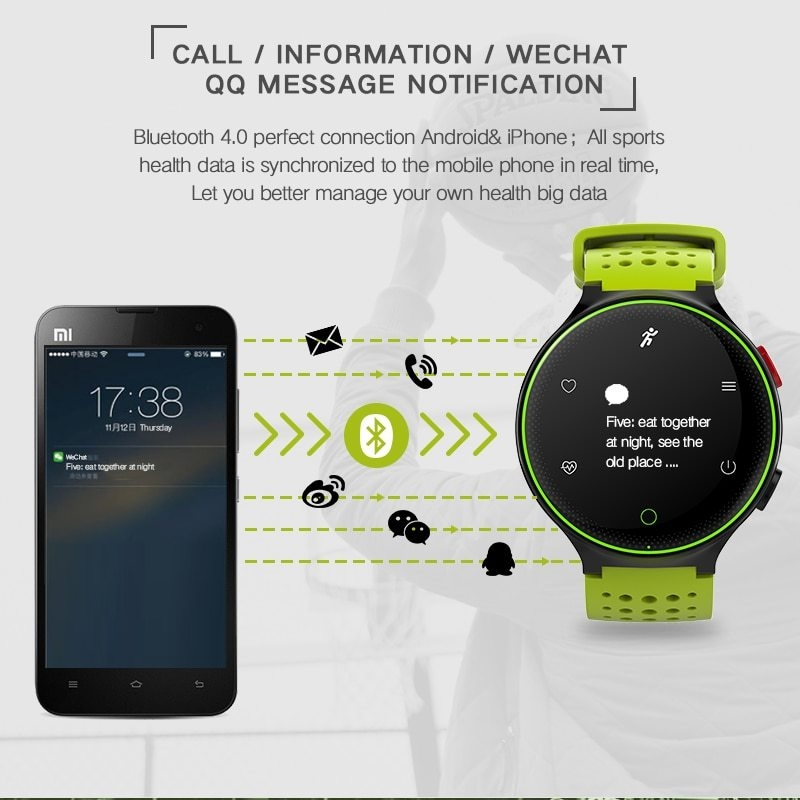 X2 Smart Watch IP68 Waterproof 4.0 Bluetooth 0.96 Inch Blood Pressure Tracker Heart Rate Sleep Monitor For Android IOS (11)