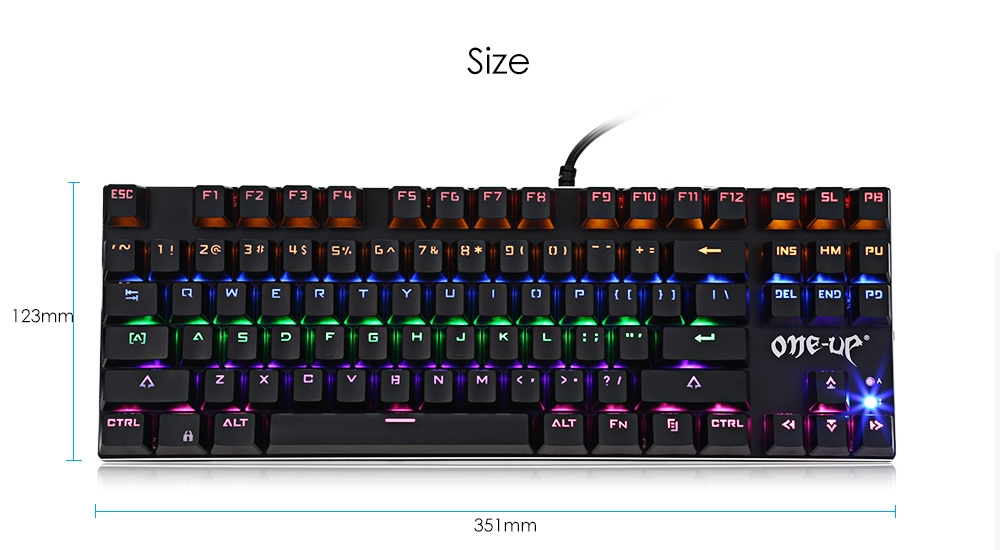 ONE - UP G300 Mechanical Gaming Keyboard with LED Backlight