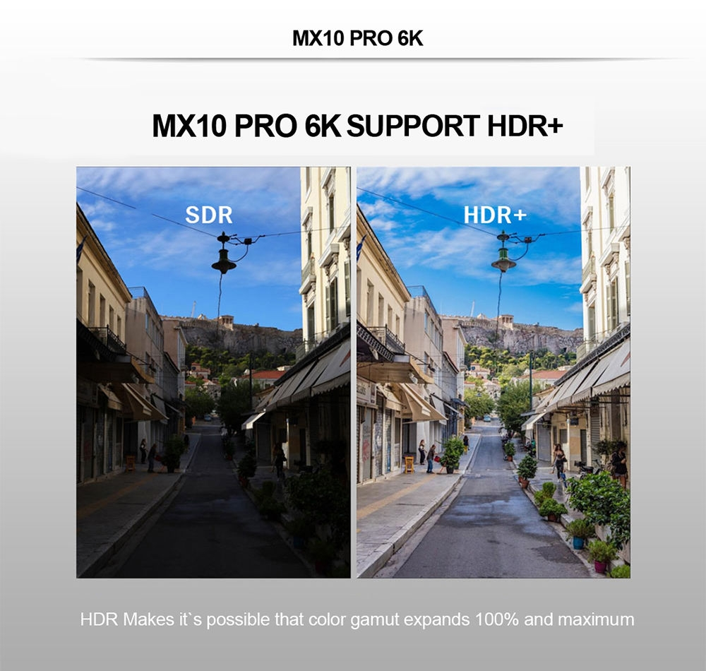 Generic MX10 Pro 6K TV Box Android 9 0 WiFi 100Mbps USB3 0