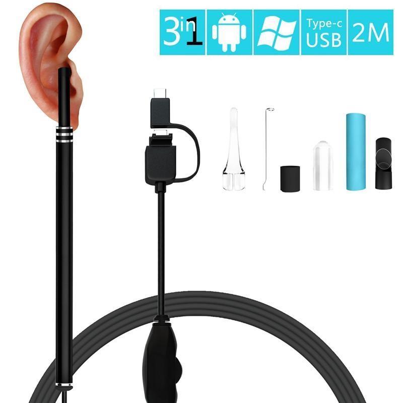 Generic Ear Otoscope, 1 3 Megapixels 720P HD Ear Scope