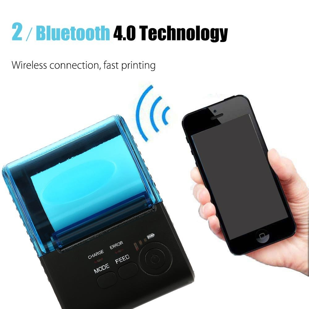 ZJ - 5805 Portable 58mm Bluetooth 4.0 Android 4.0 Thermal POS Printer