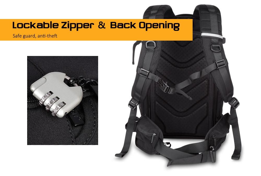 Caden K7 Large Capacity Camera Backpack with USB Charging Port for Digital SLR