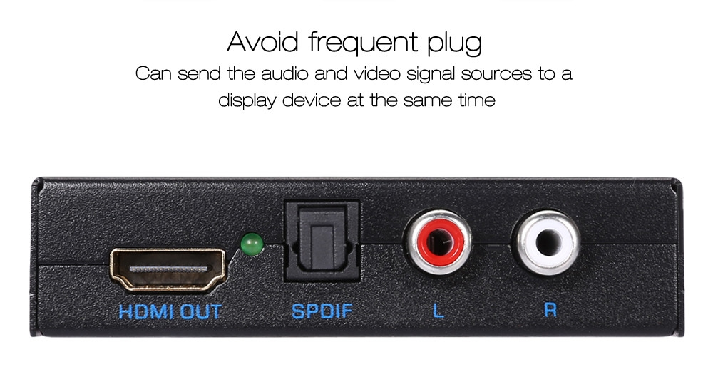 HDMI Audio Extractor Splitter for SPDIF RCA Stereo L / R Analog Output