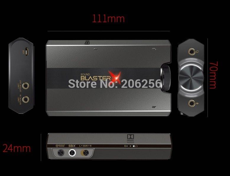 Generic New Creative Sound BlasterX G6 7 1usb external game sound