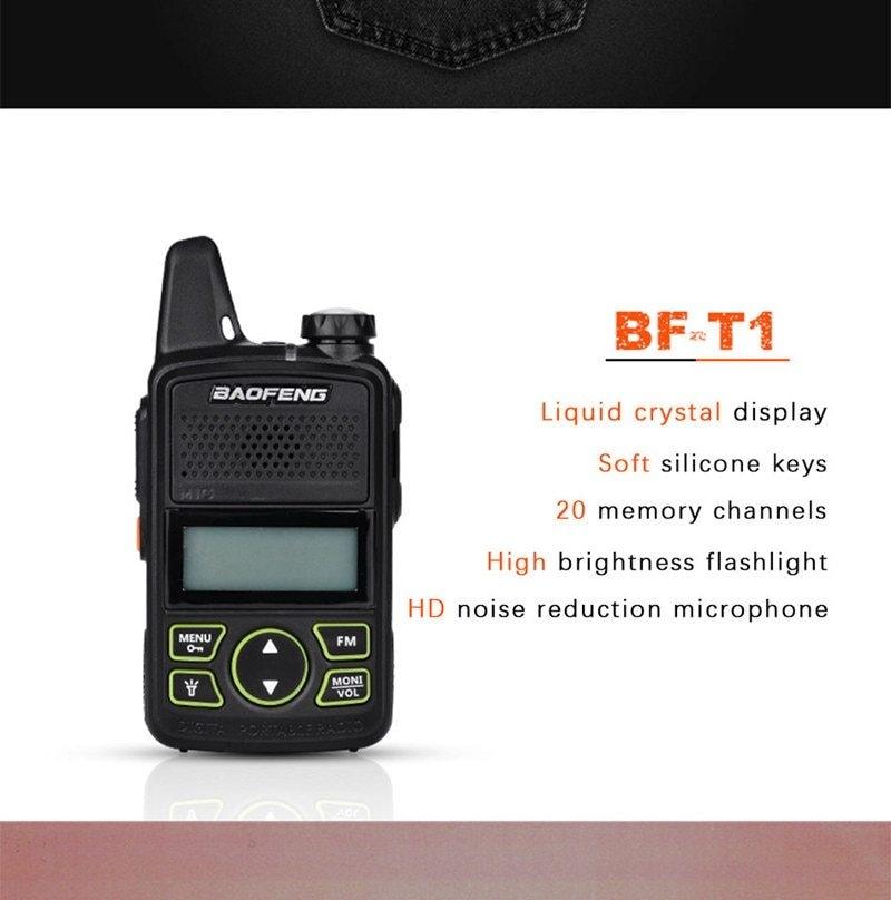 Generic BF-T1 MINI Walkie Talkie UHF 400-470MHz Portable T1 Two Way