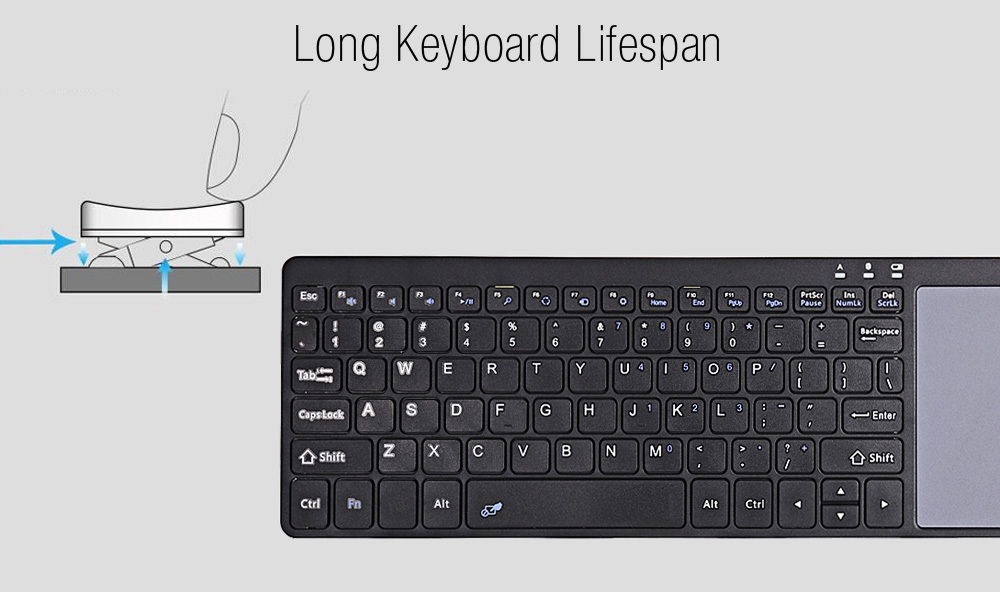 B020 Ultra-slim Lightweight Bluetooth Keyboard Touchpad
