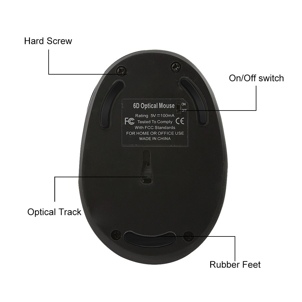Generic 2 4Ghz Wireless USB Vertical Mouse Ergonomic Computer Mice