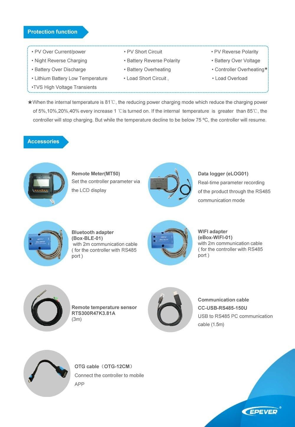 Generic EPsolar Factory price 12v 24v solar charge