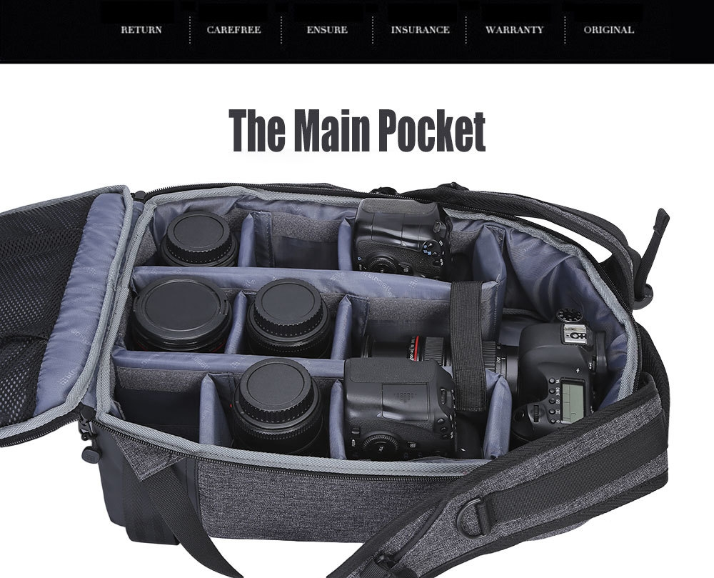 PROWELL DC22095 DSLR Camera Photography Backpack
