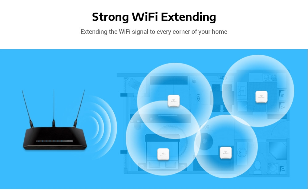 Generic Meross MRE120 Mini Wall Plug WiFi Range Extender
