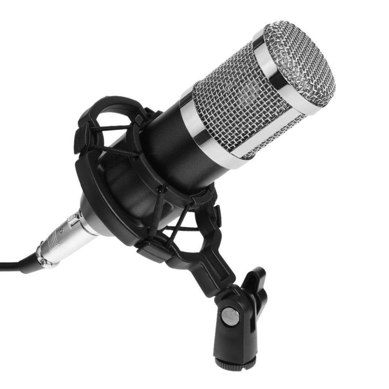 generic or bm800 dynamic condenser microphone sound studio ktv singing recording mic silver. Black Bedroom Furniture Sets. Home Design Ideas