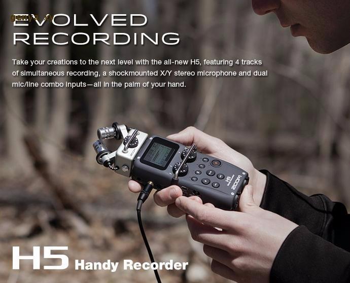 Generic Hot In stock ZOOM H5 professional handheld digital