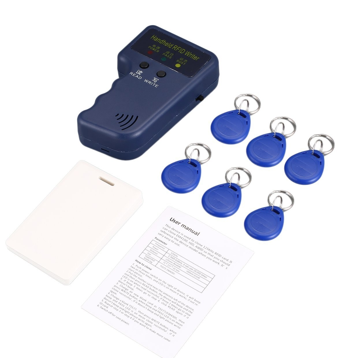 Generic Handheld RFID Copier Card Reader Writer Duplicator