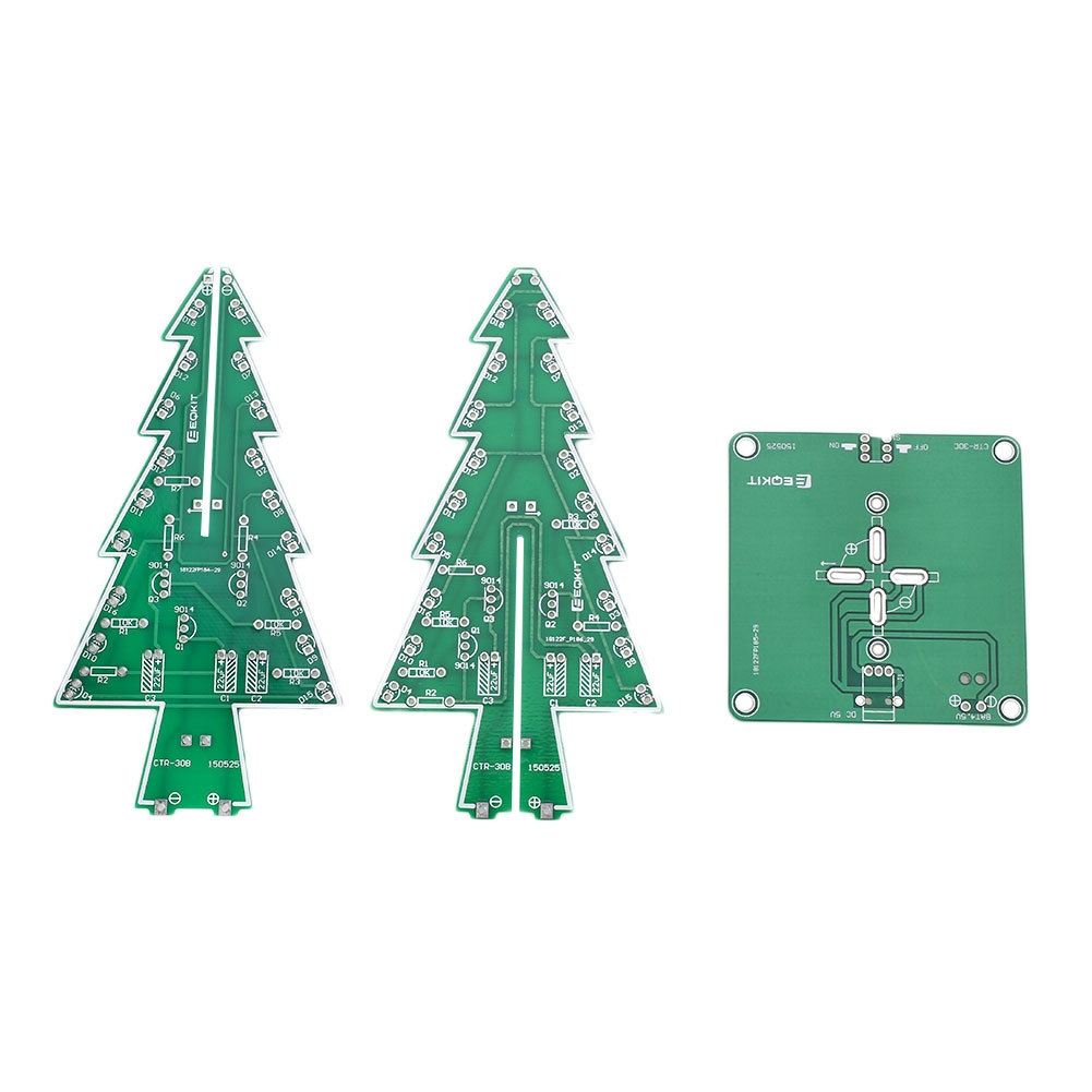 Buy Generic 3d Xmas Christmas Trees Diy Kit Led Light Flash 3 Colors Power Supply Circuit Material Abs Board Use Voltage Dc45 5v 3pcs Aa Batteries Not Included Or Usb Charging Source Color