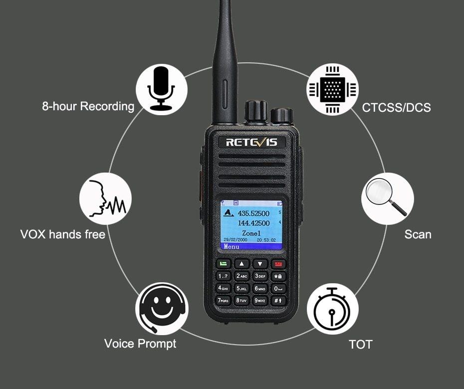Generic DMR Dual Band RT3S Digital Walkie Talkie (GPS) VHF UHF DMR