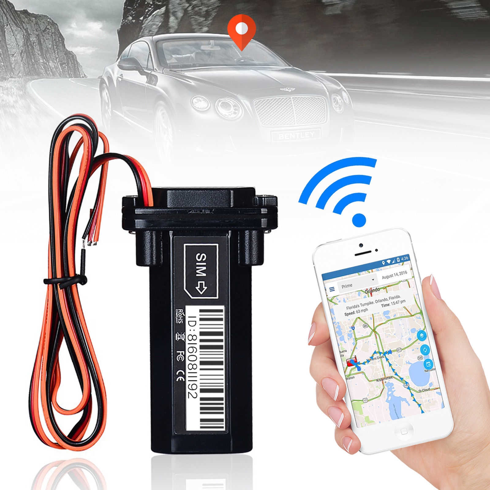 Generic GPS Satellite Positioning Tracker For Car- Black