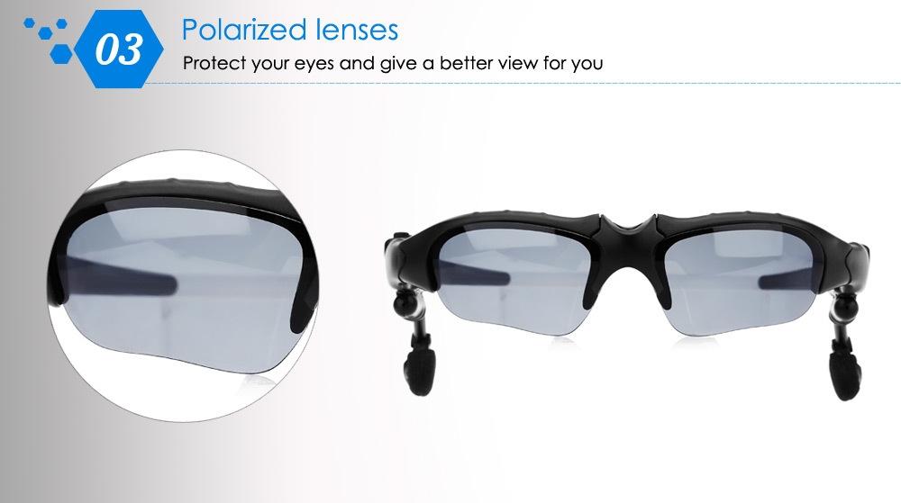 BT201 Multifunctional V4.0 Smart Bluetooth Sunglasses Headset with Polarized Lens