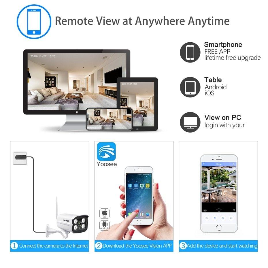 Generic Techege HD 1080P Wireless SD Card Slot Audio Camera 2 0MP