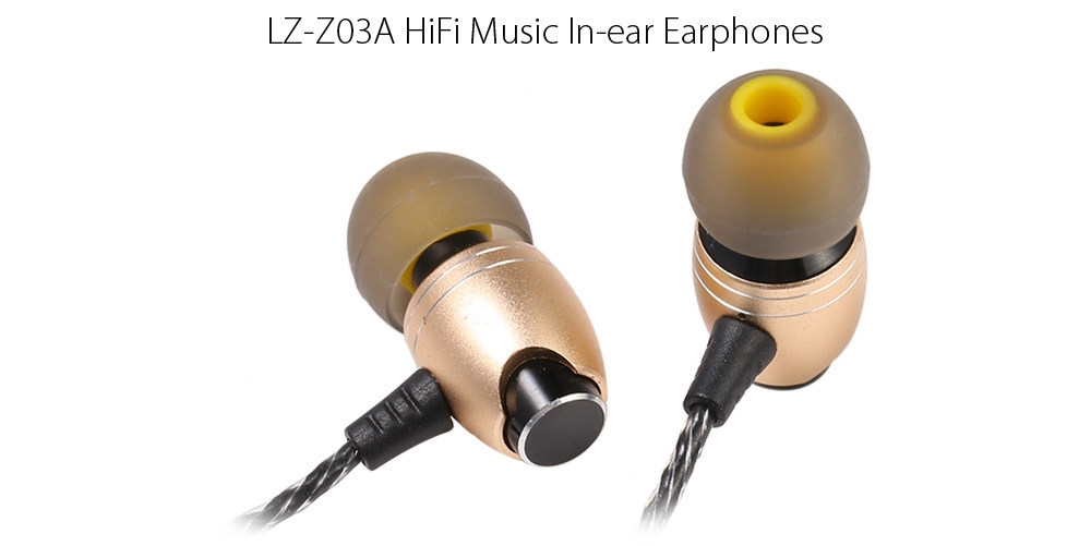 LZ - Z03A HiFi Music In-ear Earphones Mic Song Switch Fashionable Design