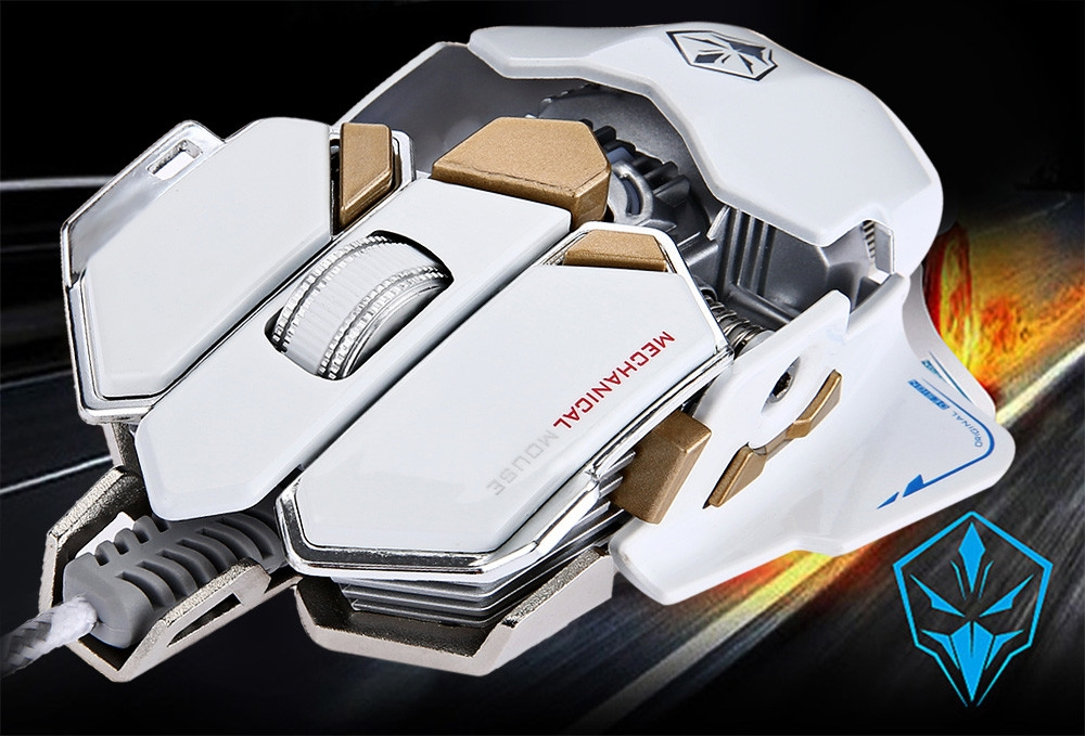 G10 250 - 4000 DPI Optical 10 Buttons Mechanical Macro Programming Luminous Gaming Mouse
