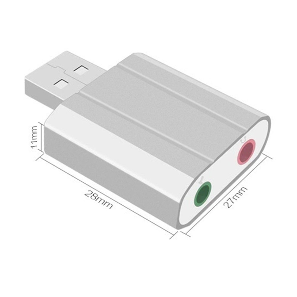 Generic Mini Usb External Drive Double Hole Sound Card For Xp Win7