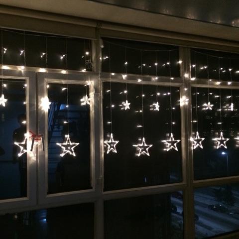 12 LEDs Star Shape String Light Holiday Party Wedding Decoration Lamp