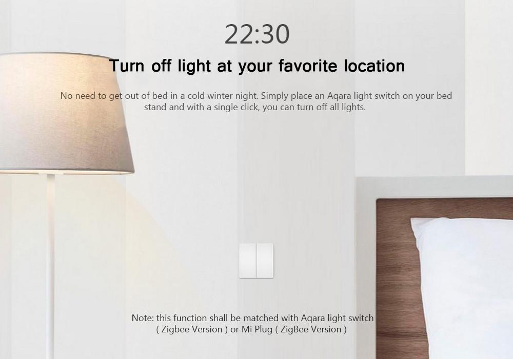 Xiaomi WXKG02LM Aqara Smart Light Switch Wireless Version Double Key