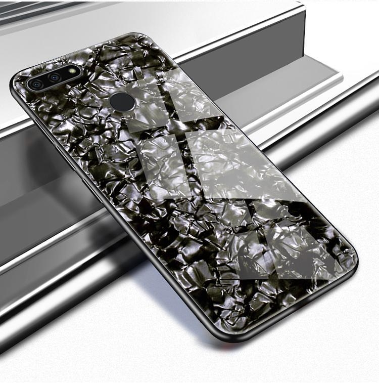 reputable site a3eae b7c93 Generic For Honor 7C Luxury Hard Tempered Glass Case Marble Shell ...