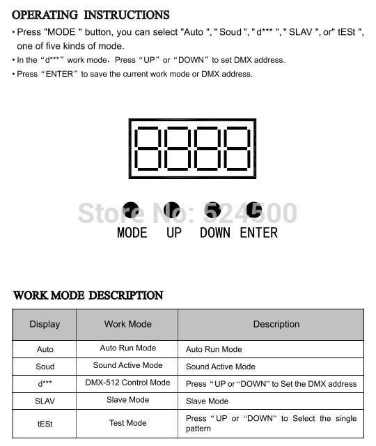 Generic AUCD IR Remote DMX 512 Mini 400mW RGB Full Color