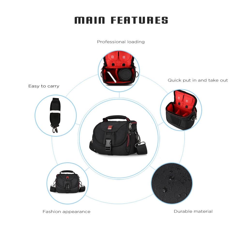 PROWELL DC21791C Water Resistant Camera Shoulder Bag for Travel