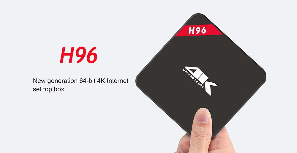 H96 TV Box Amlogic S905 Quad Core 64Bit Android 5.1 Smart 4K HD Media Player 1GB 8GB 2.4GHz WiFi