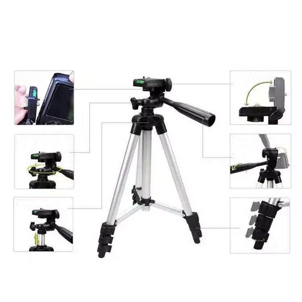 3110 Extendable Stretch Universal Portable Digital Camera Camcorder Tripods Stand Lightweight Aluminum for  Nikon Sony