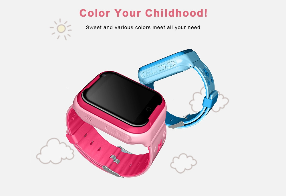 VO217 Kids GPRS Smart Watch Waterproof Real-time Positioning for Children